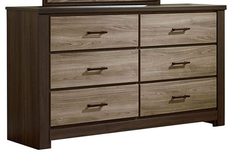 Weathered Oak Dresser by Fremont And Smoky Weathered Oak 6 Drawer Dresser From