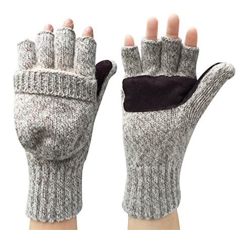 knitting patterns for fingerless gloves with mitten cover 59 korlon warm winter wool knitted convertible
