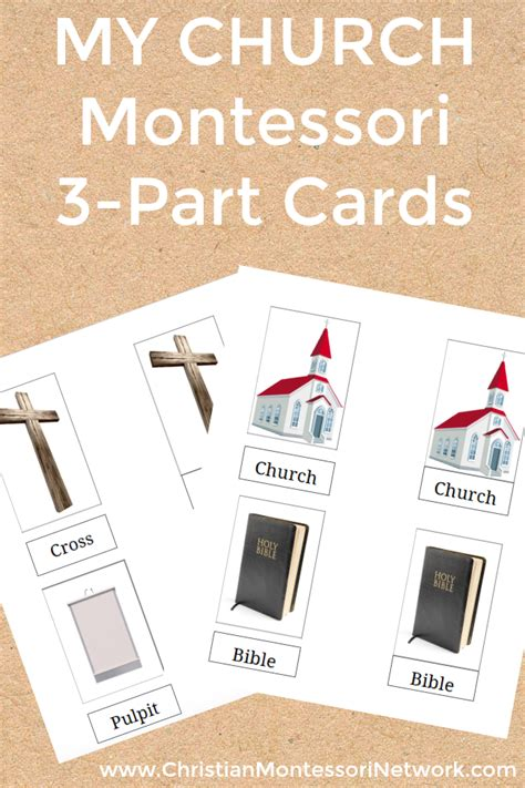 free printable montessori three part cards my church montessori 3 part cards for language lessons