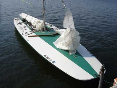 wooden scow for sale johnson e scow sailboat for sale