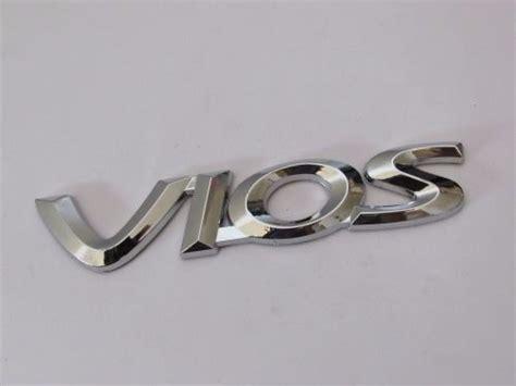 Emblem Tulisan Peugeot Ukuran 815cm emblem tulisan vios chrome ukuran 14x2 7cm
