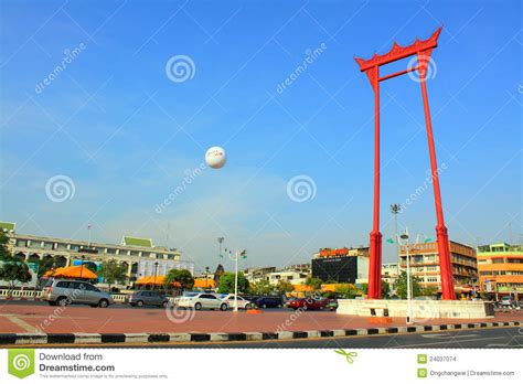 swing bangkok bangkok landmark giant swing editorial stock image