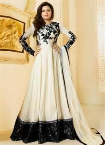buy drashti dhami black and white color georgette party