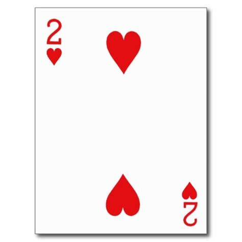 photos of playing cards the two of hearts two of hearts playing card post cards places to