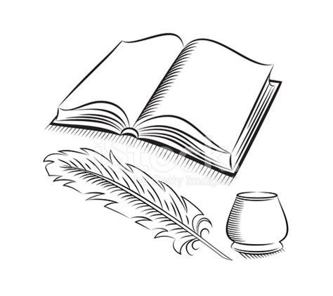 libro sketch your world drawing skizze stil feder und tintenfass mit buch stock vector freeimages com
