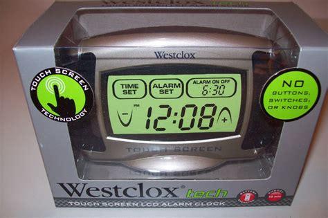 westclox tech touch screen lcd alarm clock 49405 ebay