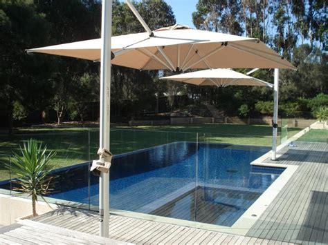 Sola 2 7m Square Umbrellas By Pool Instant Shade Umbrellas Overhang Patio Umbrella