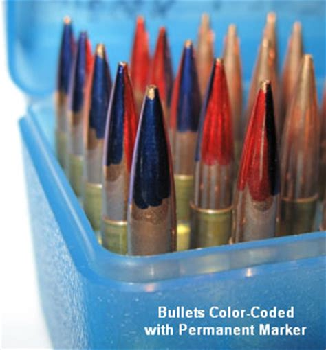 colored bullets range load development within accurateshooter