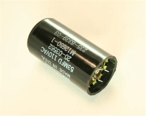 motor start capacitor mallory 20 03562 mallory capacitor 53uf 110v application motor