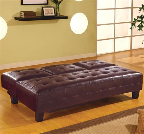 armless leather sofa bed coaster faux leather armless convertible sofa bed with