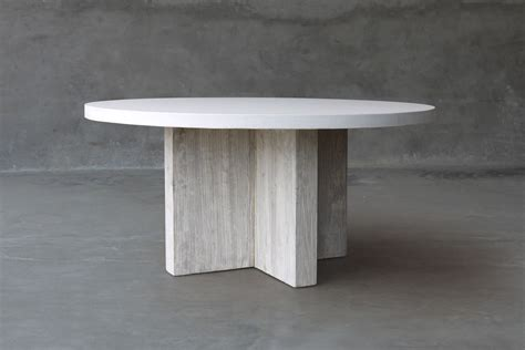 round concrete dining round concrete and reclaimed elm dining table mecox gardens