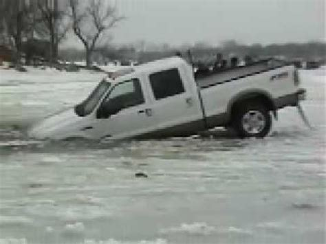 truck through the ice youtube