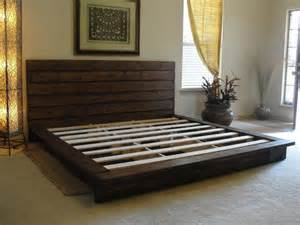 King Size Bed Out Of Pallets Rustic Platform Bed Storage Organization Furniture