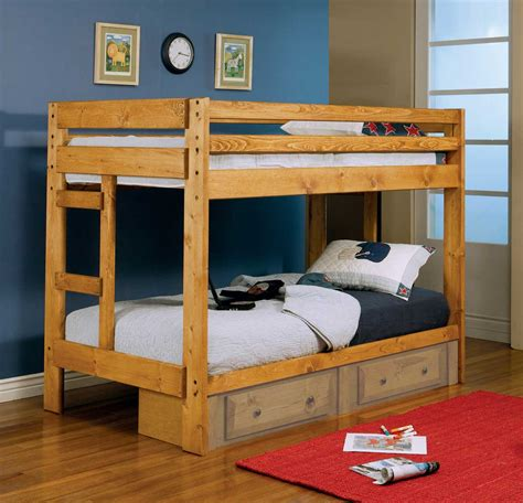 coaster bunk bed coaster wrangle hill twin twin bunk bed 460243 at
