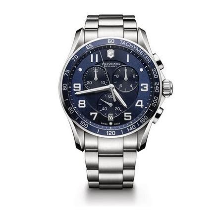 Swiss Army 1533 Blue Silver Steel Chain graduation gift guide