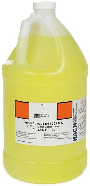Hach Ph Buffer Solution Kit hach 2283449 buffer solution ph 4 01 nist color coded