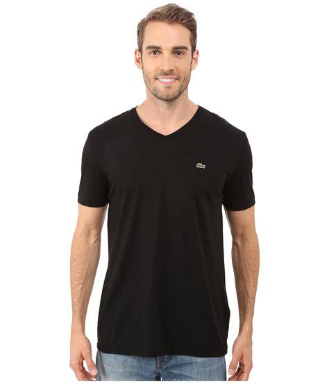 V Neck T Shirts lacoste s s pima jersey v neck t shirt zappos free