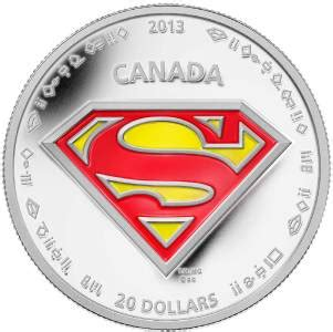 Koin Coin Set Canada Superman Anniversary 2013 superman 75th anniversary 7 coins complete set w 75 14 kt gold canadian ebay