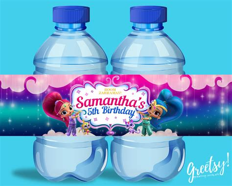 Shimmer For In This New Like Label by Shimmer And Shine Water Bottle Labels Shimmer And Shine