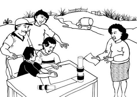 ilustraciones del ciclo de fortalecimiento comunitario