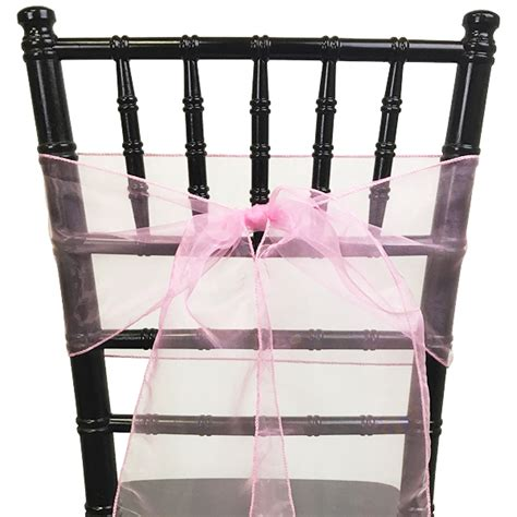 Pink Sashes For Chairs by Organza Chair Sash Pink