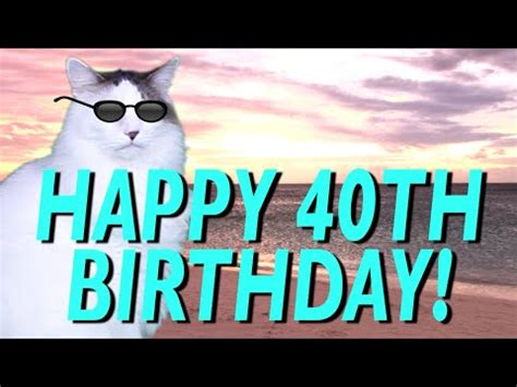happy 40th birthday! epic cat happy birthday song youtube