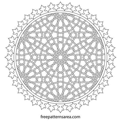 printable geometric shape ornaments geometric decorative islamic ornament vector design