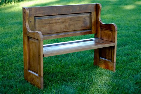 wooden pew bench door furniture