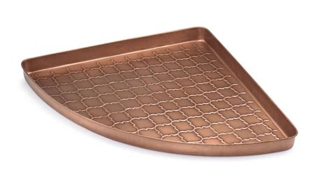 metal boot tray embossed barcelona copper corner boot tray 22 x 31 x 2