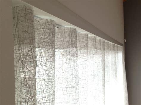 tende color avorio tende a pacchetto con astine in lino color avorio
