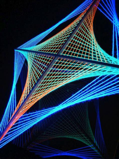 Uv String - psywork schwarzlicht 2d stringart quot psychedelic spiderweb