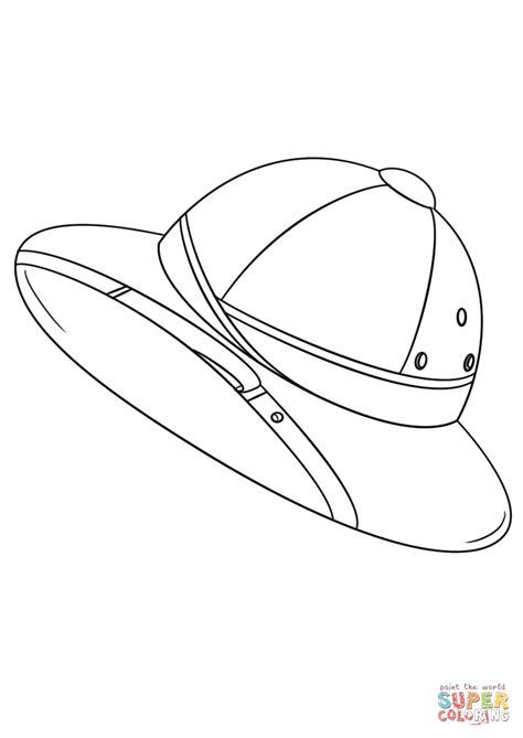 safari coloring pages safari hat coloring page free printable coloring pages