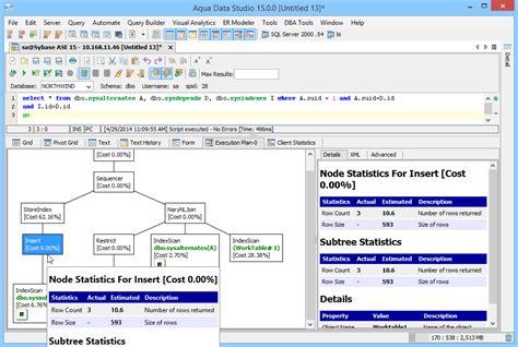 tutorial oracle explain plan aqua data studio features and screenshots aquafold