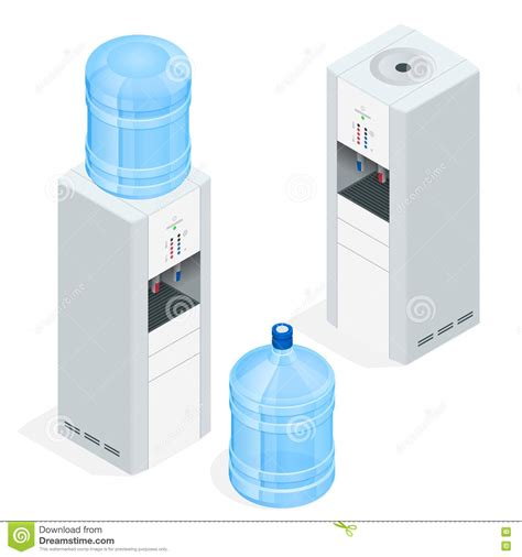 Water Dispenser Vector water dispenser on white background water cooler for