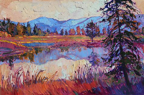 painting montana montana reflective painting by erin hanson