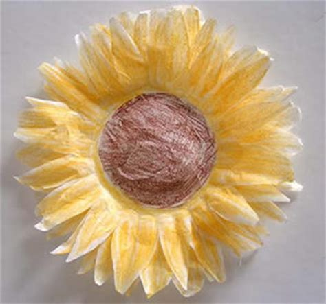 Coffee Filter Paper Crafts - coffee filter sunflowers family crafts