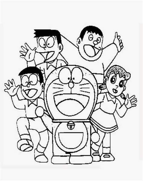 Gambar Mewarnai Nobita dan Doraemon ~ Gambar Mewarnai Lucu