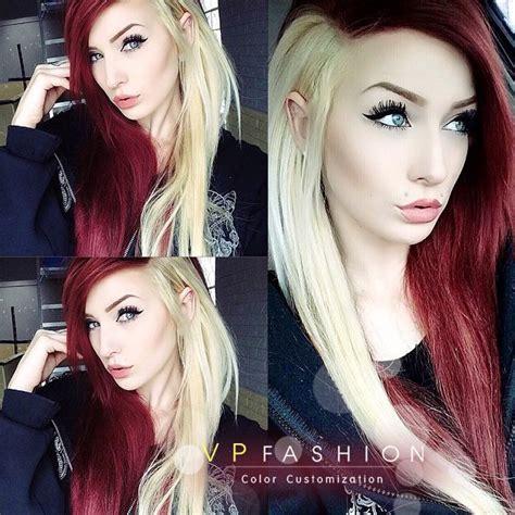 hairstyles half blonde half brown half red half blonde hair love love it hair love