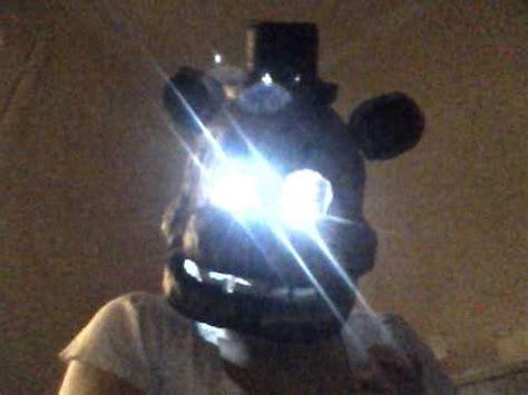 real freddy fazbear mask  light  action youtube