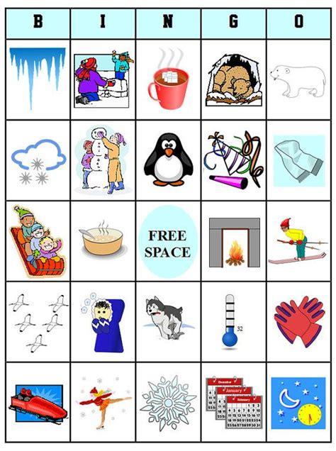 printable winter board games printable winter bingo 54 bingo cards download this