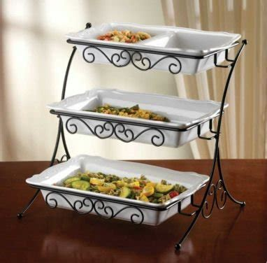 shop for best adjustable 3 tier buffet server with wrought