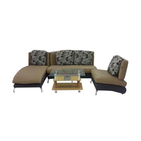 Daftar Sofa Baru jual morres 31 coklat set sofa dan meja harga kualitas terjamin blibli