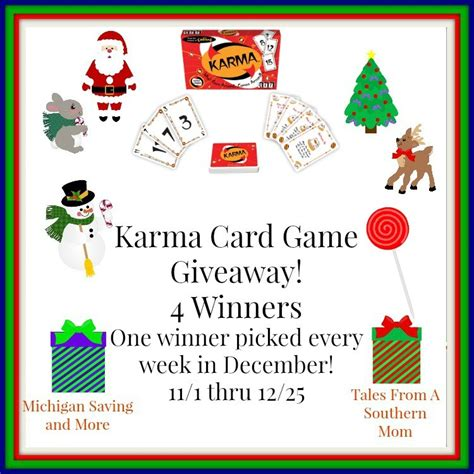 Game Giveaway Sites - karma card game giveaway 12 25 tales from a southern mom