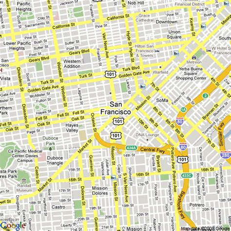 hotels in san francisco map map of san francisco united states hotels accommodation