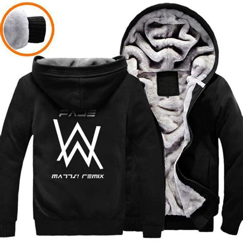 Jaket Hoodie Cewek Jaket Hoodies Outwear Hoodies brand clothing hip hop dj alan walker sweatshirt hoodies black winter jacket warm