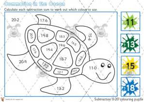 hundreds subtraction coloring pages