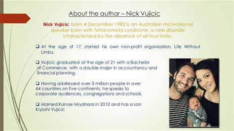 nick vujicic biography ppt book review life without limits