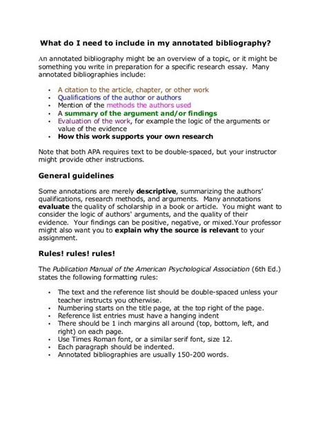apa reference section sle apa annotated bibliography university pinterest
