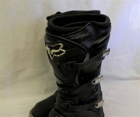 fox tracker motocross boots sell fox racing men s tracker motorcycle boots black
