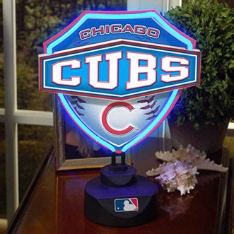 chicago cubs table l chicago cubs mlb neon shield table l